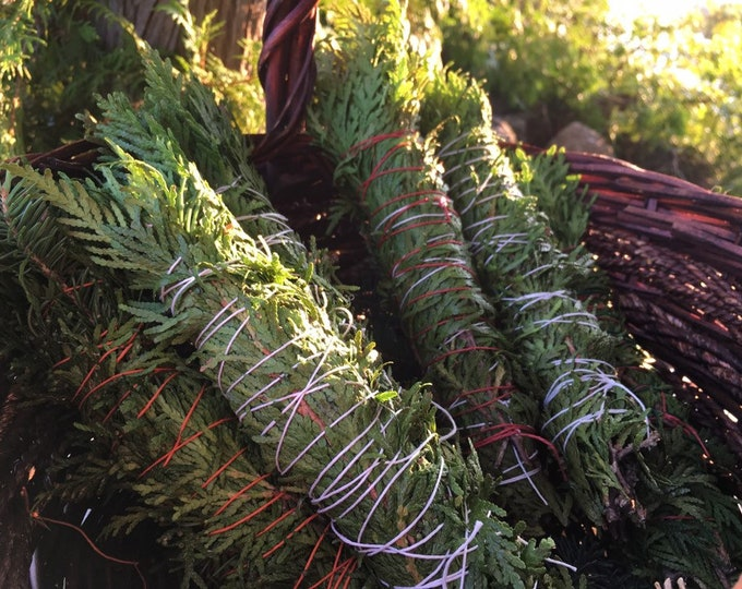 Cedar/ Cedar and Spruce Forest Fresh Smudge Wands