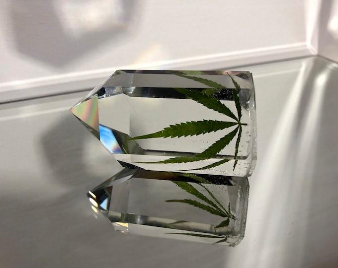Weed Leaf Crystal Tower 2