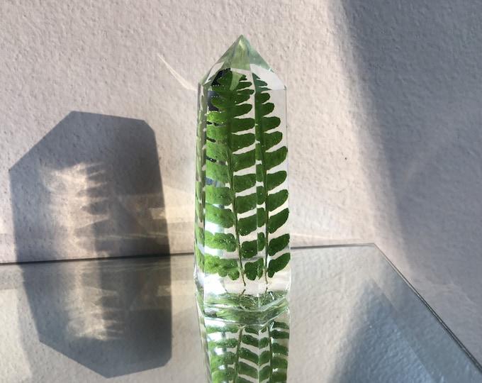 Fern Leaf Crystal Tower 2