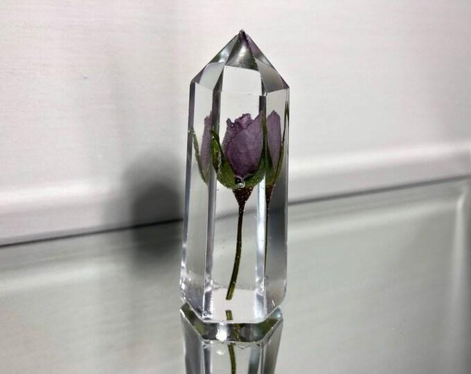 Purple Rose Crystal Tower