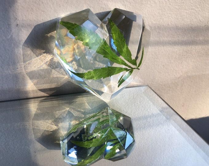 Weed Leaf Heart Prism Crystal 1