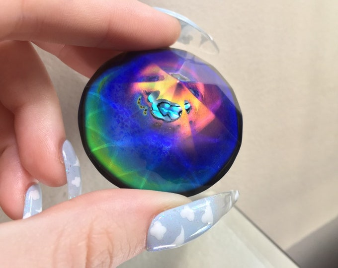Mood Diamond Crystal with Abalone Shell - Colour Changing 12 Different Colours