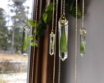 Vibrant Globe Sun catcher Hanging Crystal Rainbow Prism Feng Shui Mobile Wind Chime SALE