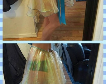 Cotton liner Made in USA. Organza circle skirt with spiders embroidery