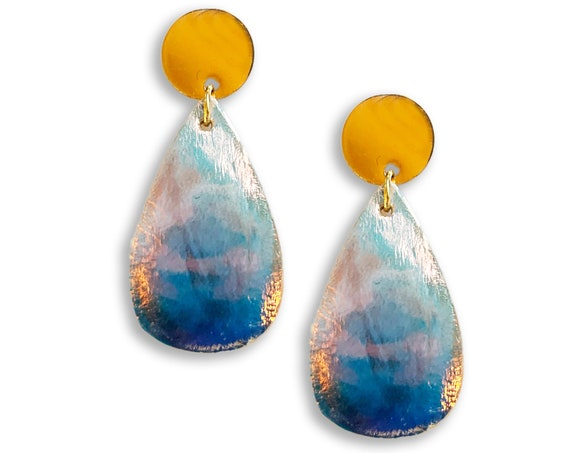 Iridescent Drop Earrings