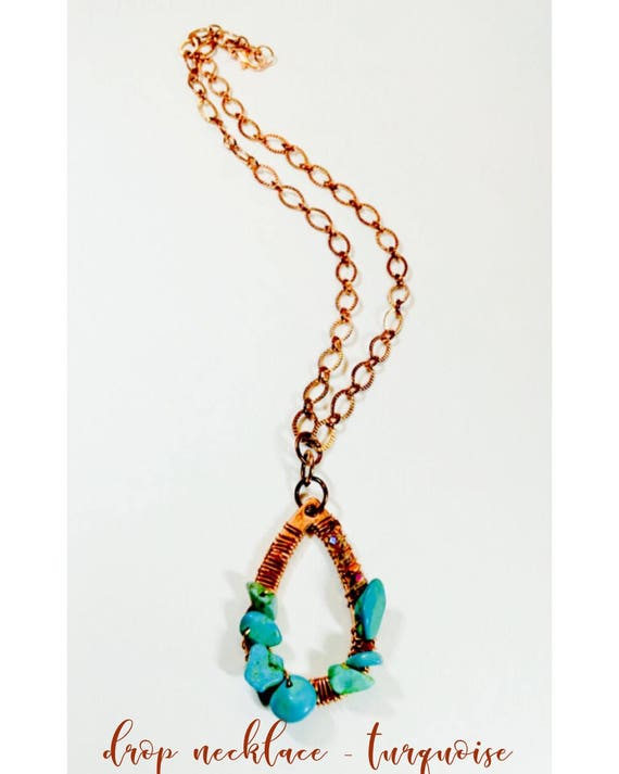 Drop Necklace - Turquoise