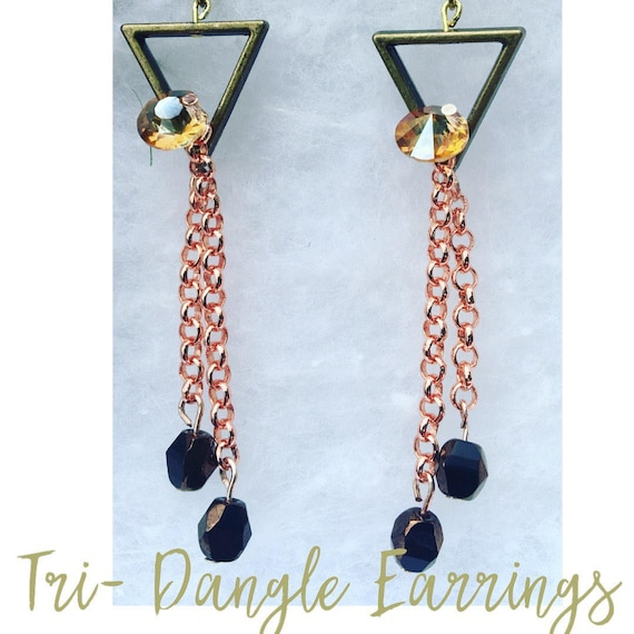Tri-Dangle Earrings