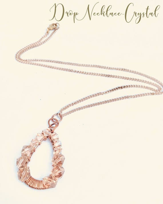 Drop Necklace - Crystal