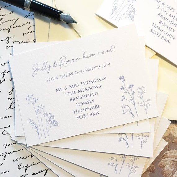 change of address moving cards we have moved x12 with envelopes personalised