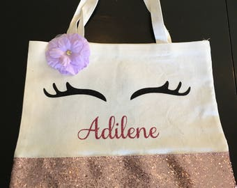 Eye lashes tote bag