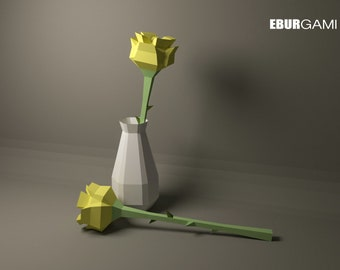 3D ORIGAMI VASE V5,6 | PAPER VASE HANDMADE DECORATION - YouTube | 270x340