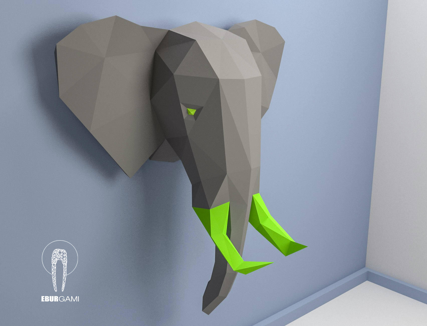 Paper Craft Elephant Head, Papercraft Trophy Elephant Mask DIY, 3D ...