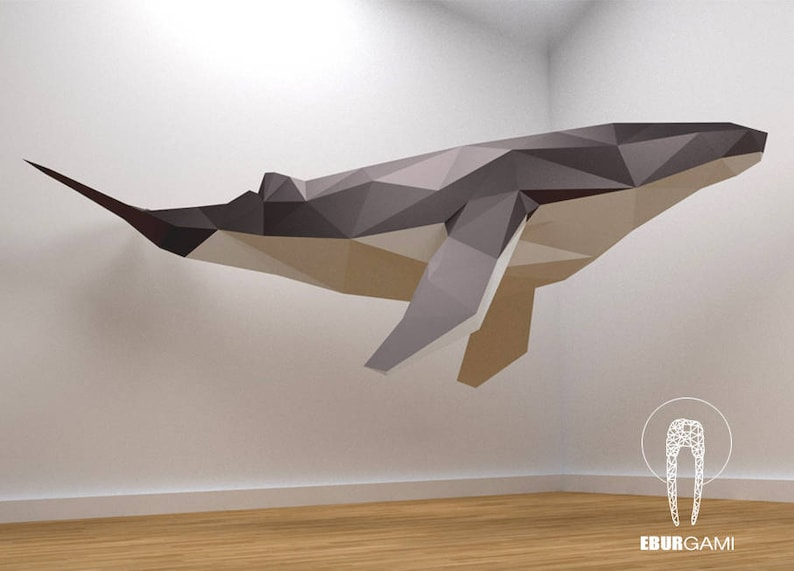 DIY Paper Whale Model