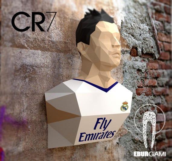 disponibilità nel Regno Unito vari stili belle scarpe Wall Decor Cristiano Ronaldo Papercraft Head CR7 Papercraft | Etsy