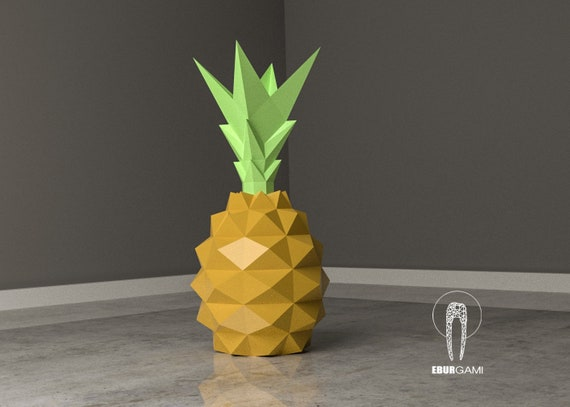 Pineapple Papercraft XXL Fruit 3D Fruit Paper Craft Low  1b21512d9