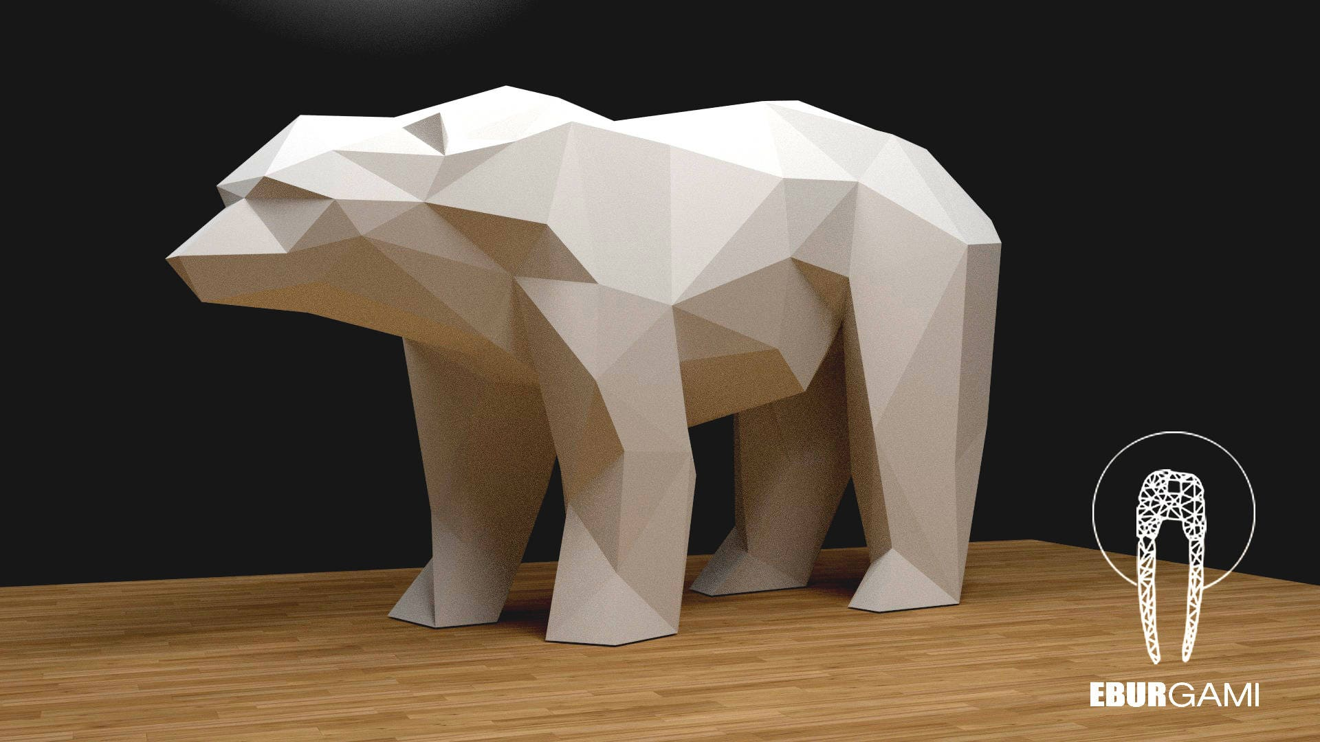 Bear Papercraft Xxl 3d Build Your Own Low Poly Etsy Origami Diagram Paper Sculpture Pdf Download Diy Gift Wall Decor Home Office