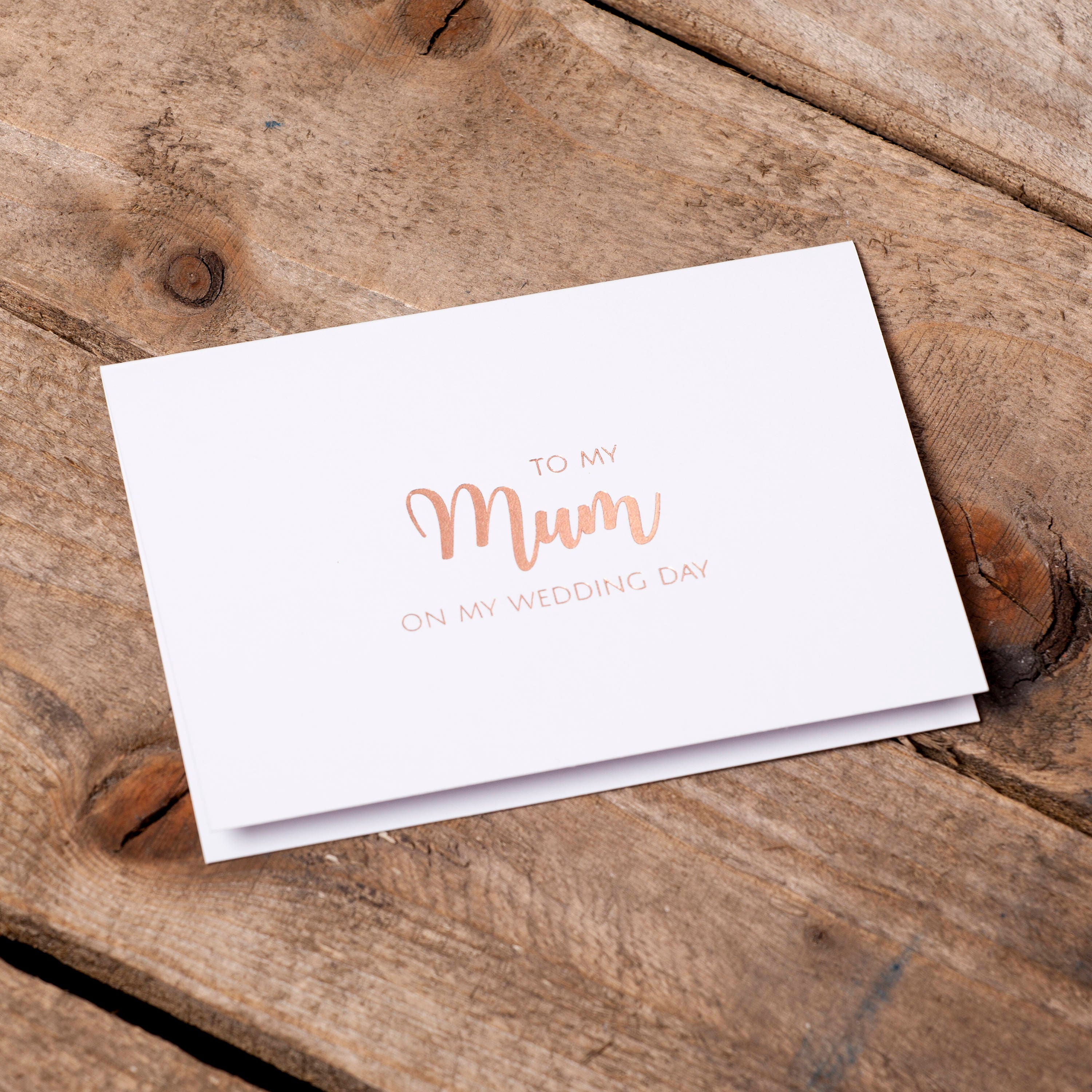 Luxury Rose Gold Foil Printed White Card With Envelope To My Brother On My Wedding Day Card Sibling Wedding Day Card To My Bro