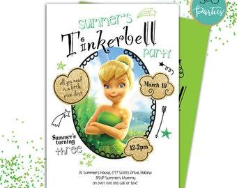 Tinkerbell invites etsy tinkerbell invitations tinkerbell birthday tinkerbell invites fairy invitation fairy birthday invitation green tinkerbell filmwisefo