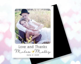 Thank You Photo Magnets // Party Favors // Wedding Favors //  Envelopes Included // FREE Shipping on all Orders