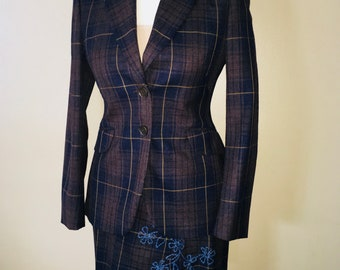 Vintage Moschino Women's two piece suit Blazer and skirt size 6