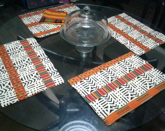 African Print Cloth Placemats