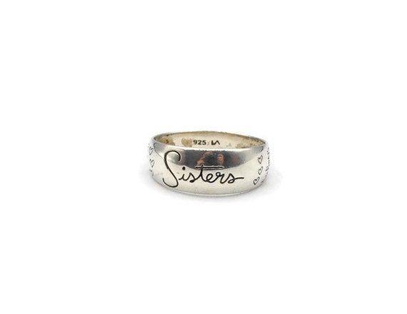 Sterling Silver Sisters Band #264368666492