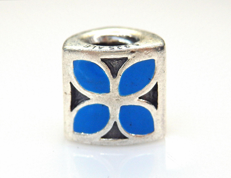 Authentic pandora sterling silver blue enamel bluet flower etsy zoom izmirmasajfo