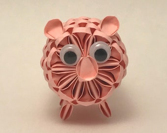 3D Origami Pig - Ready To Ship