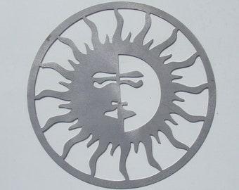 Sun and Moon Metal Wall Hanging