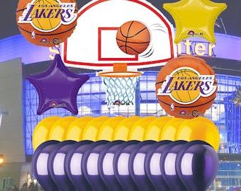 LA Lakers 25 Piece Balloon Set 992b6ba328b11