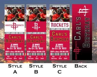 45f09f27d Houston Rockets Ticket Invitation