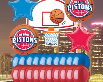 Detroit Pistons 25 Piece Balloon Set
