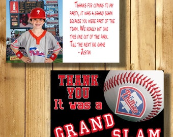 Philadelphia Phillies 4x6 Thank You Note Cards