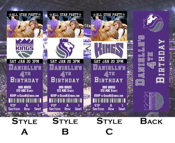 Sacramento Kings Ticket Invitation