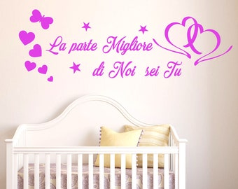Son dedicated wall sticker the best part of us is you-phrases in English
