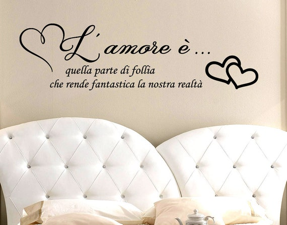 Adesivi Murali Frase L Amore E Quella Parte Di Follia Etsy