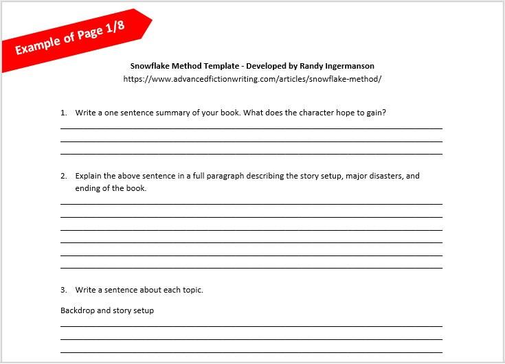 Writing tool snowflake method template etsy zoom maxwellsz