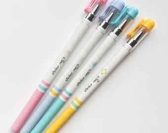 Kawaii import *Molang/'s friend Piu Piu* fine tip black ink gel pen with refill