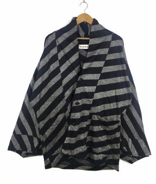 Rare !!! Vintage Plantation Kimono Japan Traditional Japanese Brand Japan Designer Issey Miyake Nice Design Jacket Medium Size
