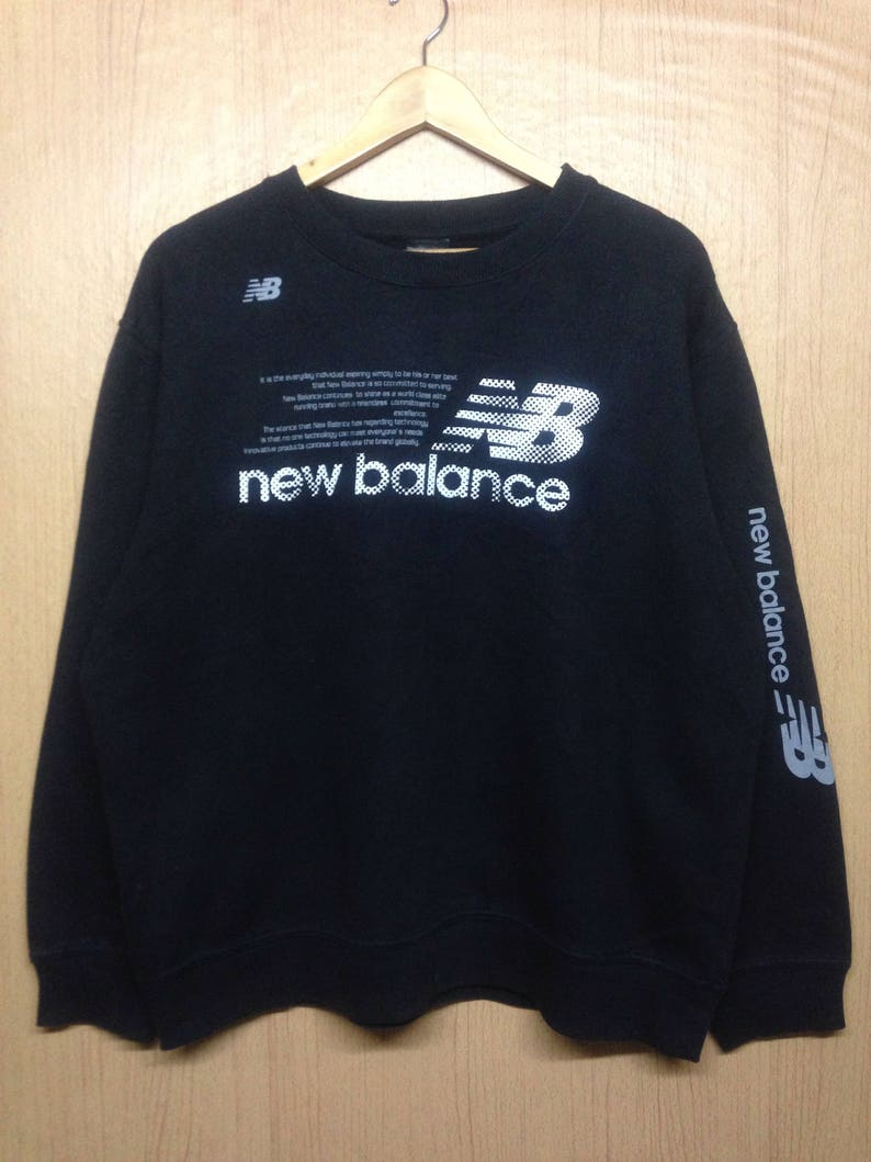 884c3db2d9bac Rare !!! Vintage New Balance Sweatshirt Pullover Jumper Big Logo Hip Hop  Swag Sweater Spellout