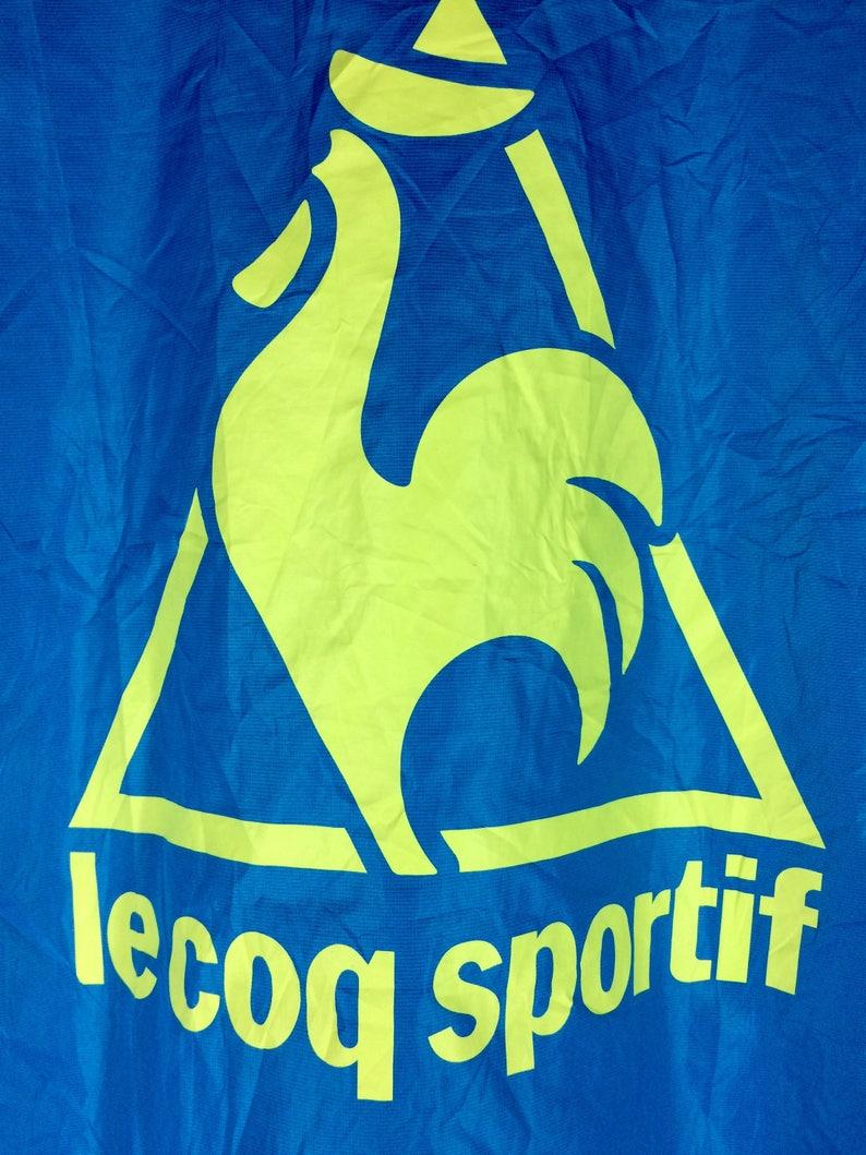 Vintage Le Coq Sportif Windbreaker Jacket Spellout Big Logo Sweater Size L Rare !!