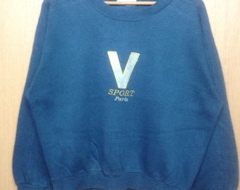 Rare !!! Vintage Valentino Christy Sport Paris Sweatshirt Crewneck Casual Medium Size