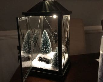 christmas lantern - How To Decorate A Lantern For Christmas