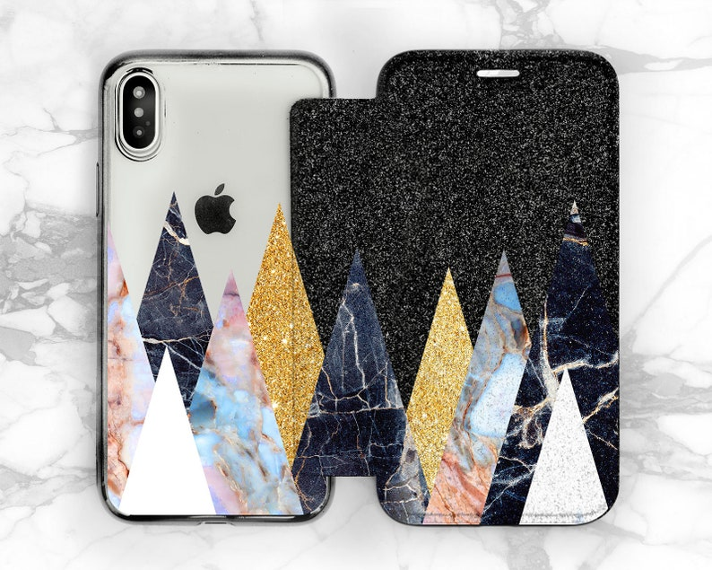 42eb634f1670c0 Glitter Marble wallet iPhone 8 case iPhone 6s flip case iPhone