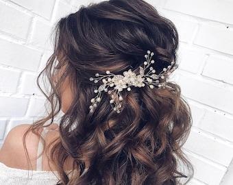 Crystal Wedding Hair Comb Pearl Bridal Hair Comb  Bridal Hair Accessories Pearl Hair Comb Bridal Hair Piece Wedding Hair Accessories