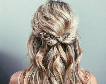 Bridal Hair Vine Bridal Hair Piece Wedding Hair piece Gold Hair Vine Silver Hair Vine Bridal Headpiece Bridal Headband Hair Accessories #192