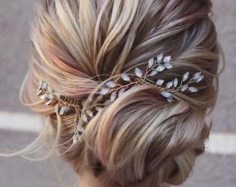 Bridal hair vine  Bridal hair accessories Blue Opal Bridal hair vine Wedding hair piece Wedding hair Accessories Wedding hair vine
