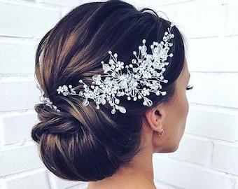 Crystal Bridal hair piece Wedding hair piece Wedding Hair Accessories  Bridal Hair Accessories Crystal Bridal Hair vine Bridal Hair jewelry