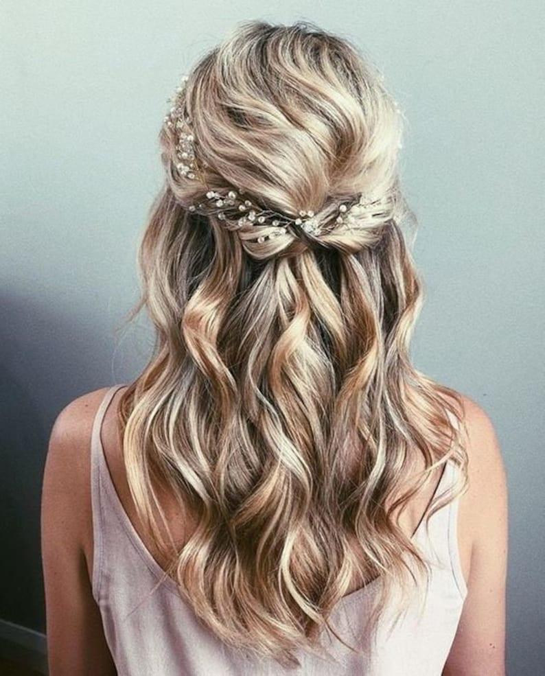 Wedding Hair Vine Bridal Hair Vine Bridal hair accessories Wedding Hair Accessories Rose Gold Bridal Hair Vine Silver Bridal Hair vine