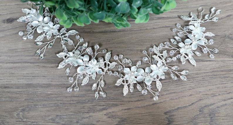 Bridal hair piece Bridal hair vine Gold Bridal headpiece Bridal headband Wedding headband Wedding hair piece Gold hair vine
